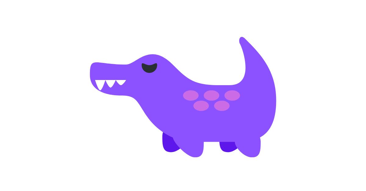 Paarse krokodil - Lizzie Kean